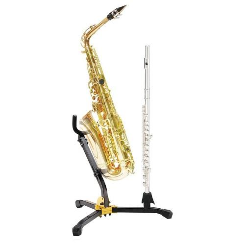 Hercules Ds532Bb 1 Altotenor Sax And 1 Clarinetflute Stand W Bag - Red One Music