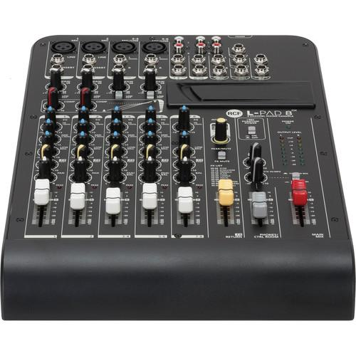 RCF Livepad L-Pad 8Cx  8-Channel Mixing Console With Effects - Red One Music