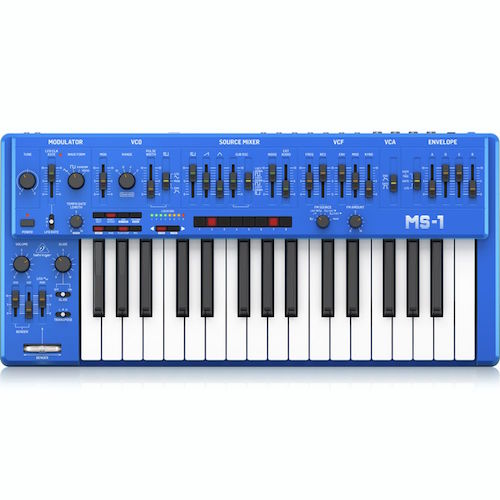 Behringer MS-1-BU Analog Synthesizer with Handgrip - Blue - Red One Music