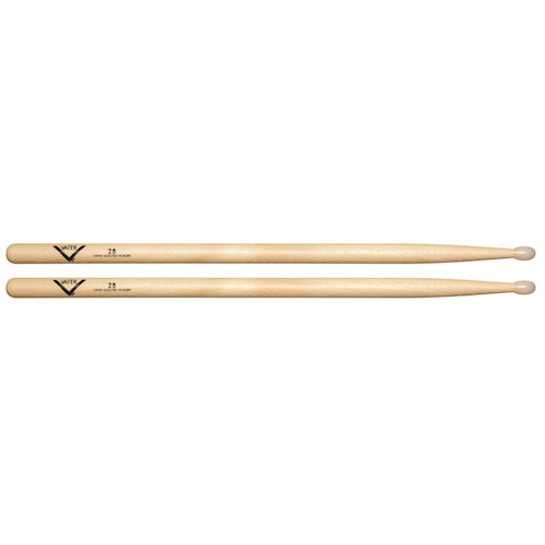 Vater Vh2Bn 2B Nylon Tip Hickory Drum Sticks - Red One Music