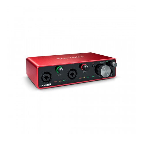 Focusrite SCARLETT 4I4 3RD GEN USB Recording Interface - Red One Music