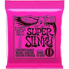 Ernie Ball Nickl - Ensemble de plaies en nickel super minces pour 2223Eb