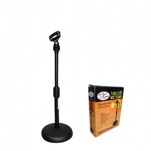"ProX-T-MIC02 Desktop Microphone Stand with 6"" Round Base - Red One Music"