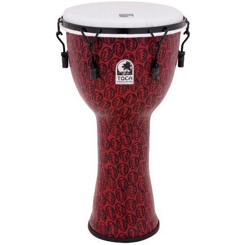 Toca Tf2Dm-12Rm Djembe 12-Inch à accord mécanique - Fini masque rouge
