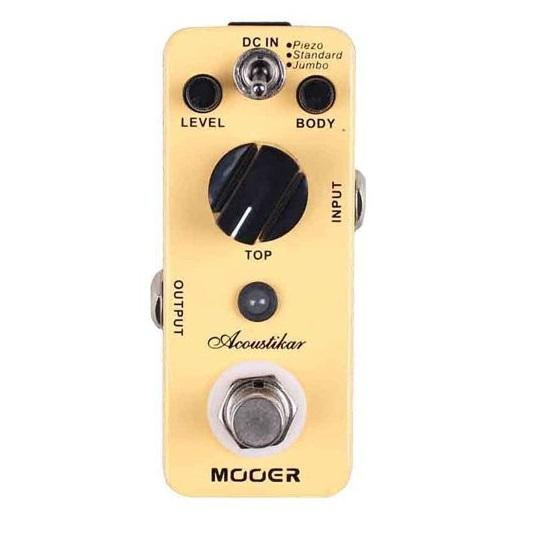 Mooer Mac1 Micro Pedal Series Acoustikar Eq Effects Pedal - Red One Music