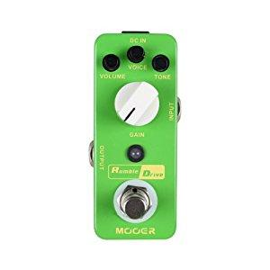 Mooer Mod2 Micro Pedal Series Rumble Drive Guitar Distortion Effect Pedal - Red One Music