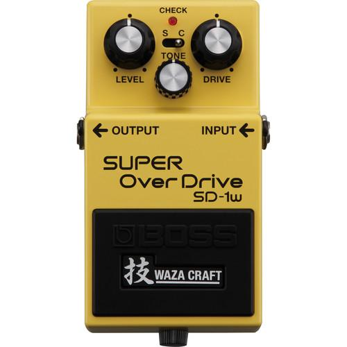 BOSS SD-1W SUPER OVERDRIVE WAZA CRAFT GUITAR PEDAL