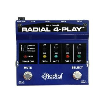 Radial 4-Play 4-Channel Output Instrument Direct Box - Red One Music