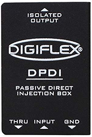 Digiflex Dpdi Single Channel Passive Direct Box With 3879 1 Frasl4 In And Through