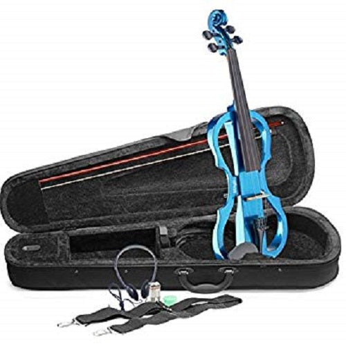 Stagg Eva 4/4-Mbl Electric Viola Set With S-Shaped Metallic Blue Electric Viola