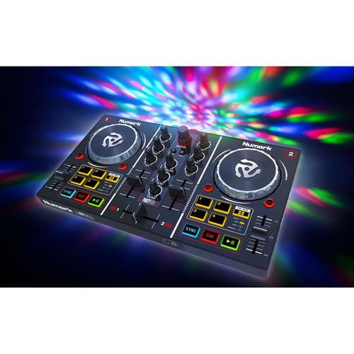 Numark Party Mix Dj Controller With Built-In Light Show - Red One Music