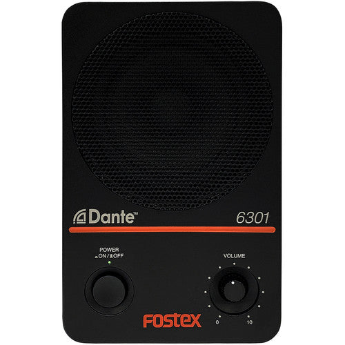 "Fostex 6301DT Active 4"" 20W Monitor Speaker with Dante (Single)"