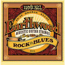 Ernie Ball Earthwd 8020 Rnb 2008Eb Earthwood Rock And Blues 8020 Bronze Acoustic String Set With Plain G 10 - 52 - Red One Music