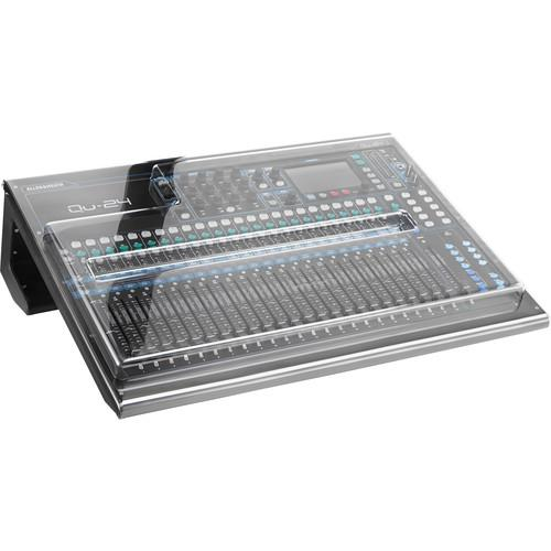 Decksaver DSP-PC-QU24 Cover For Allen And Heath Qu-24 Mixer Smokedclear - Red One Music