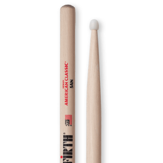 Vic Firth American Classic Nylon Tip 5An A Nylon Tip Brings Extra Brightness And Durability - Red One Music