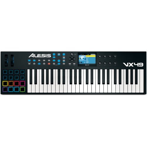 Alesis Vx49 49-Key Usb/Midi Controller - Red One Music