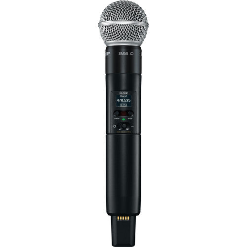 Shure SLXD24/SM58 Digital Wireless Handheld Microphone System with SM58 Capsule (G58: 470 to 514 MHz)