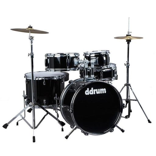 DDrum D1 MB DDRUMD1 5-Piece Junior Drum Set With Cymbalsmidnight Black - Red One Music