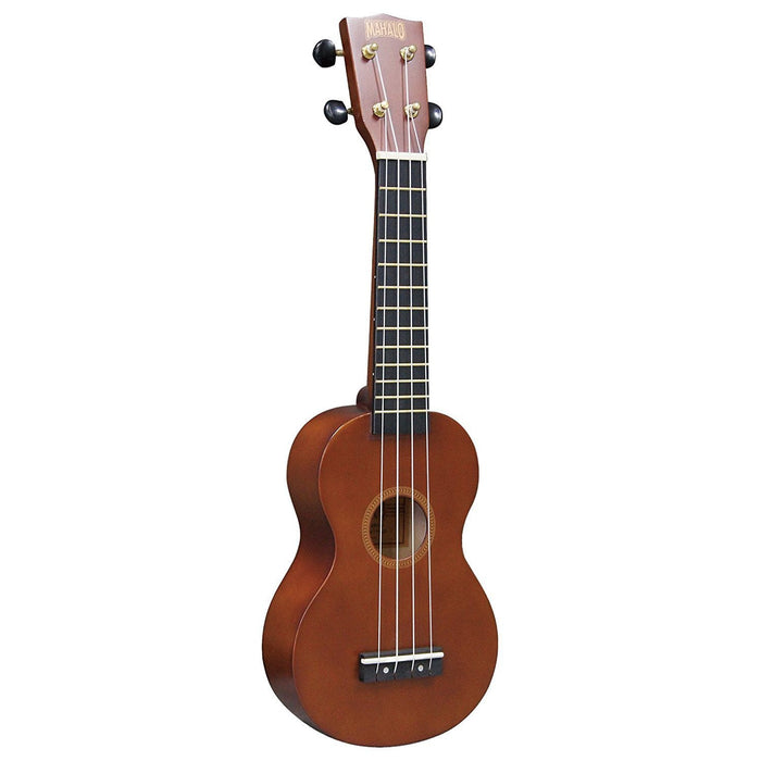 Mahalo MR1-TBR-PK Rainbow Series Soprano Ukulele Beginner Package - Red One Music