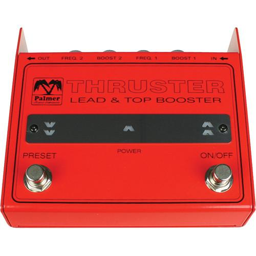 Palmer Pthruster Palmer Pthruster Lead And Top Booster Pedal - Red One Music