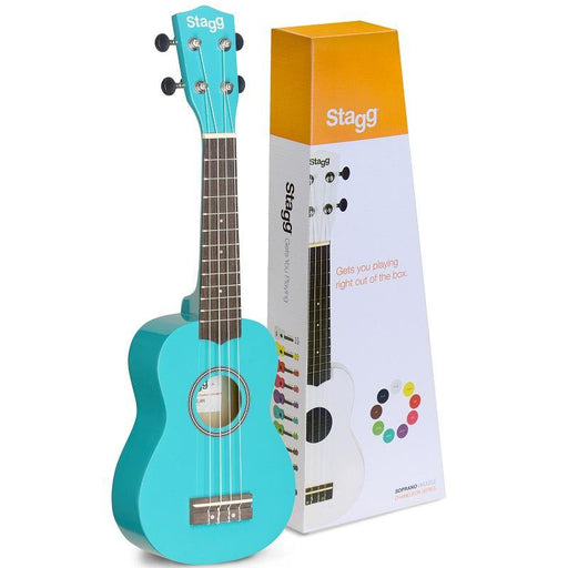 Stagg Us-Ocean Soprano Ukulele In Black Nylon Gigbag - Red One Music