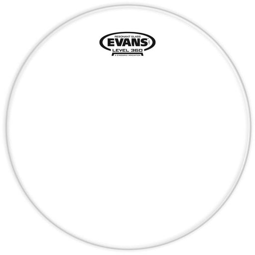 Evans Resonant Glass Drum Head, 15 Inch - Red One Music