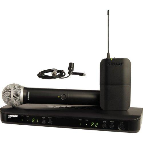 Shure BLX1288/CVL-H9 Lavalier And Handheld Combo Wireless System Frequency H9 - Red One Music