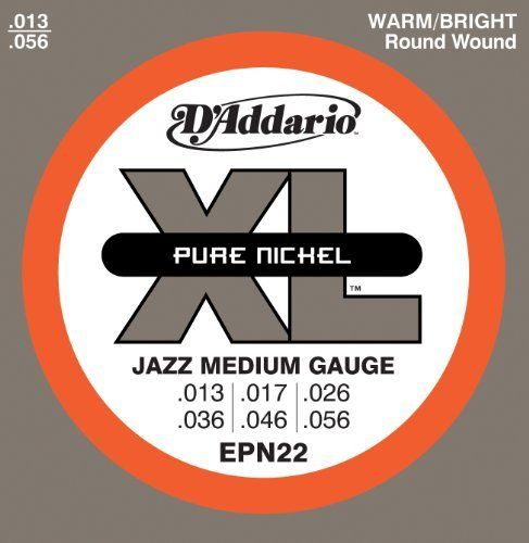 Cordes de guitare électrique D'Addario EPN22 Pure Nickel 13-56 - Red One Music