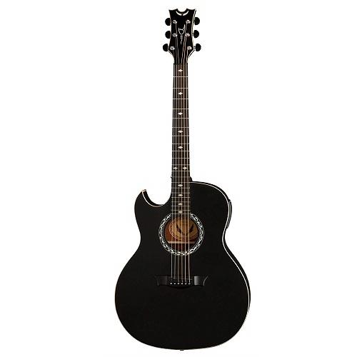 Dean Ex Bks L Left-Handed Black Acoustic Electric Guitar - Red One Music