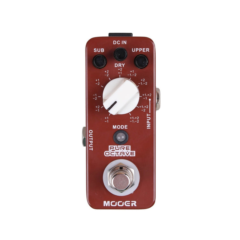 Mooer Moc1 Micro Series Octave Guitar Effect Pedal - Red One Music