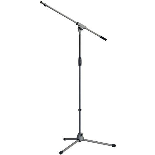 K&M 210/6 Grey Microphone Boom Stand Soft-Touch Grey - Red One Music