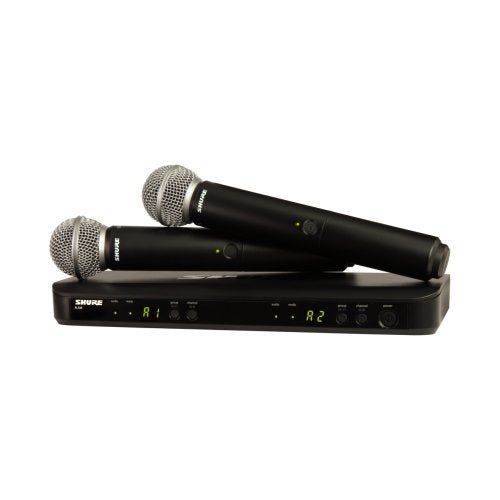Shure BLX288/SM58 Dual Wireless Handheld Mic System (FREQ: H9,H10,J10) - Red One Music