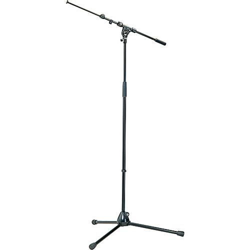 K&M 210/9 Black Tripod Microphone Stand With Telescoping Boom Black - Red One Music