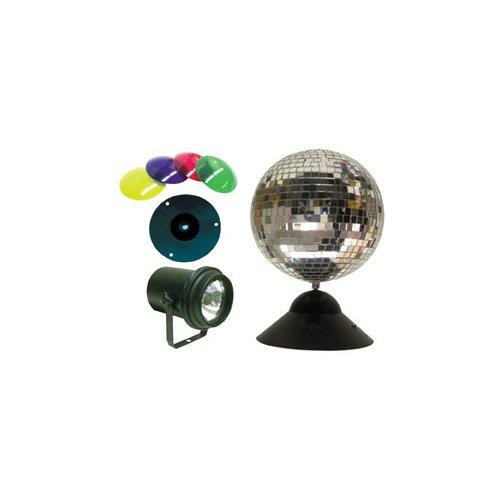 American DJ Mb-8-Combo Mirror Ball Amp Pinspot Lamp Combo - Red One Music