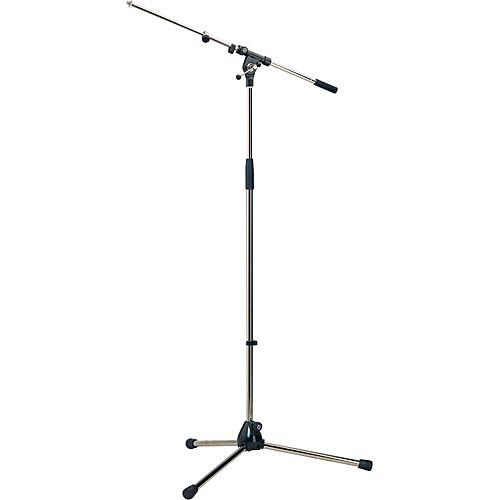 K&M 210/9 Nickel Tripod Microphone Stand With Telescoping Boom Nickel - Red One Music