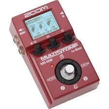 Zoom Ms-60B Multistomp Bass Pedal - Red One Music