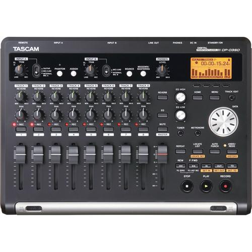 Tascam DP-03SD Digital Portastudio 8-Track Recorder - Red One Music