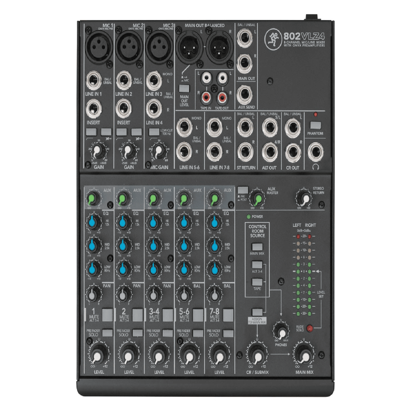 Mackie 802VLZ4 8-Channel Ultra Compact Mixer - Red One Music