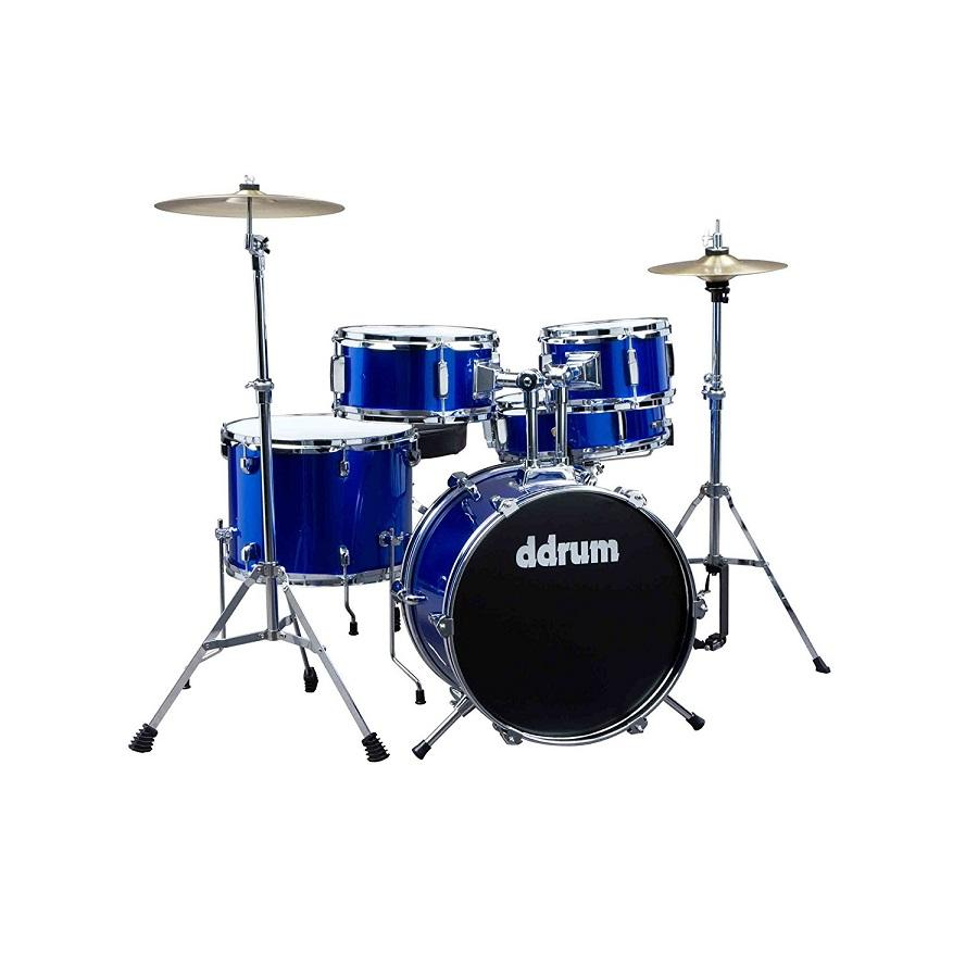 Ddrum D1 Pb D1 Junior - Police Blue - Complete Drum Set With Cymbals