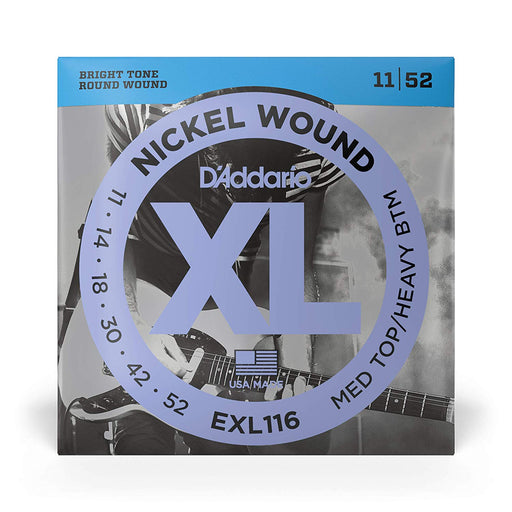 Cordes de guitare électrique D'Addario EXL116 Nickel Wound 11-52 - Red One Music