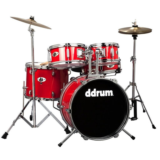 DDrum D1 CRD JUNIOR - Candy Red - Complete Drum Set With Cymbal - Red One Music