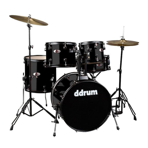 DDrum D120B MB D Series Drum Set 5 Piece Complete Black - Red One Music