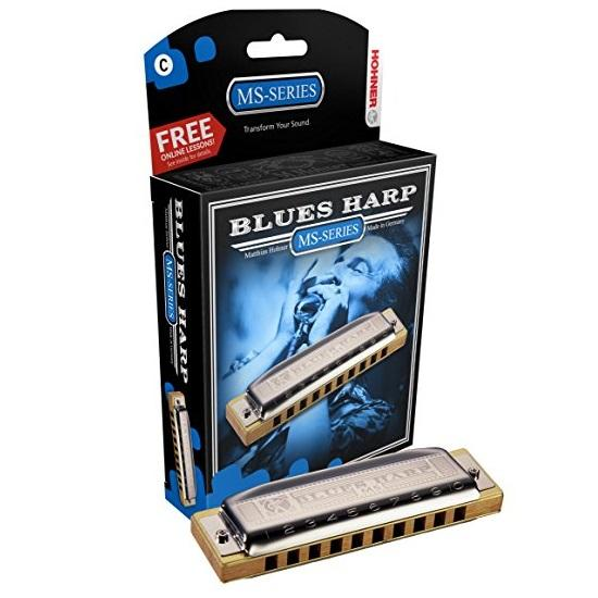 Hohner 532Bx-D Blues Harp Key Of D Major - Red One Music
