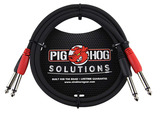 "Pig Hog PD-21403 Dual 1/4 ""Mono (Male) Cable 3 Feet - Red One Music"