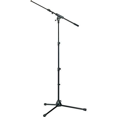 K&M 252 Black  Microphone Stand With Boom Arm Black - Red One Music