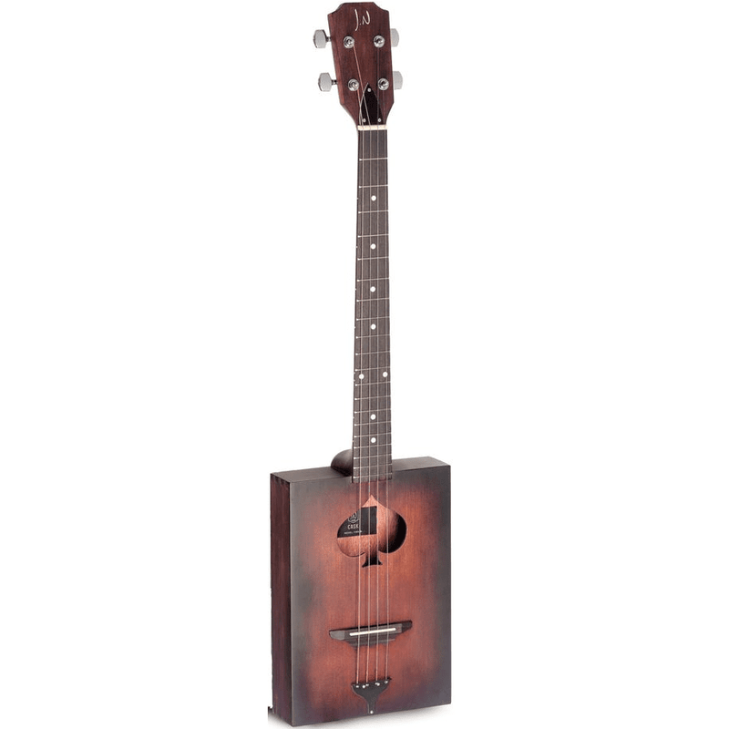 JN Guitars Cask-Firkin Acoustic Cigar Box 4-String Cigar Box Guitar - Red One Music