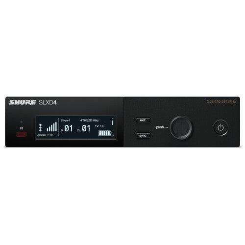 Shure SLXD4 Digital Wireless Receiver (G58: 470 to 514 MHz)