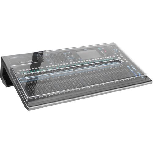 Decksaver DSP-PC-QU32 Cover For Allen And Heath Qu-32 Mixer Smokedclear - Red One Music