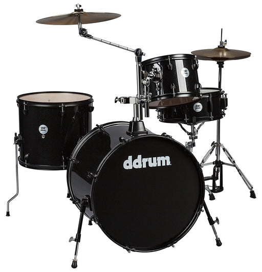 DDrum D2R BLK SPKL D2 Rock Kit With Black Hardware Black Sparkle - Red One Music