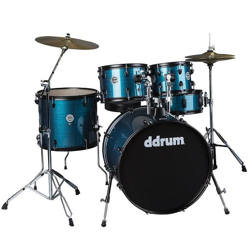 DDrum D2P BPS D2 PLAYER Complete Drum Set Kit W Cymbals Amp Hardware Blue Pinstripe - Red One Music